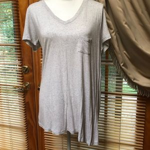 Gray v neck t shirt